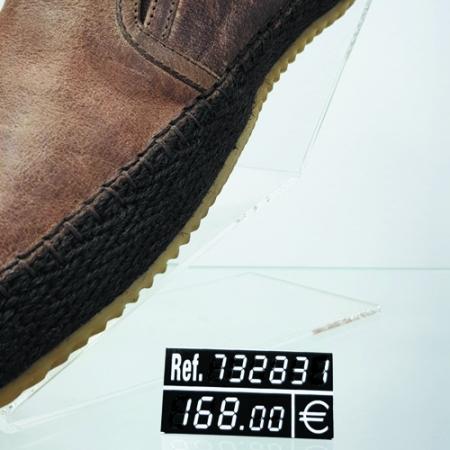 etiqueta para zapatería