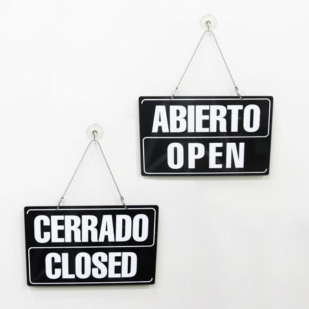 Abierto-Cerrado 2 idiomas, con ventosa