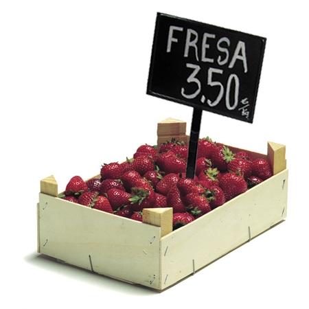 cartel pizarra de plástico para precios fruteria