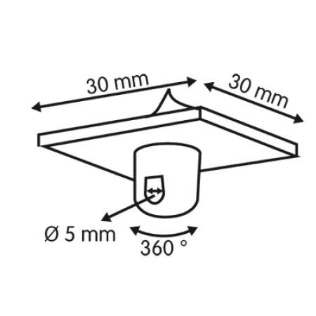 colgador techo rotativo  medidas