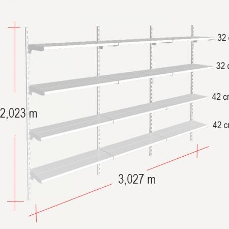medidas de la estantería para almacenaje