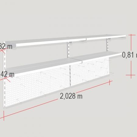 medidas de la estantería a pared para bricolaje