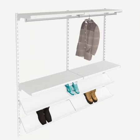 estanterías metálicas para ropa y calzado,