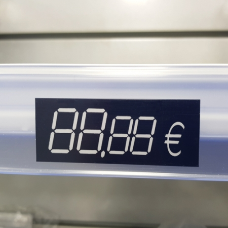Etiqueta reutilizable para precios