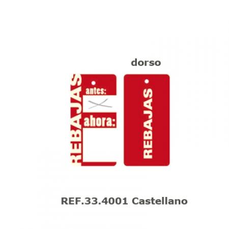 Etiqueta rebajas, 200 unid. castellano