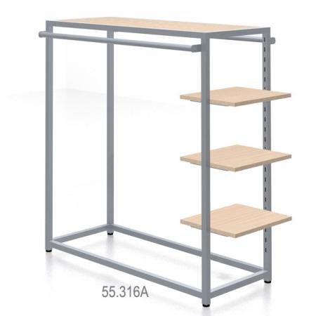 Góndola confección con estantes