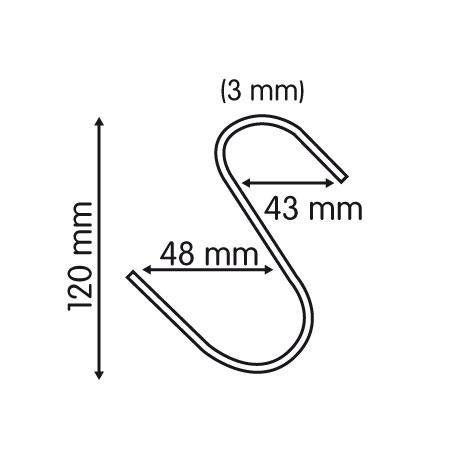 medidas de gancho grande en S