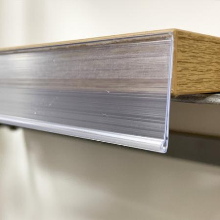 perfil porta precios con adhesivo para estante de madera