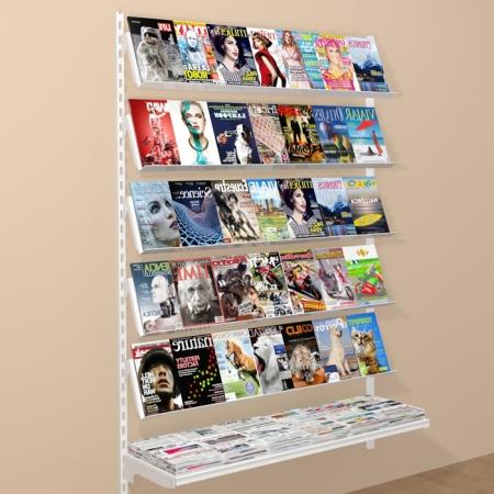 mural de estanterías para revista