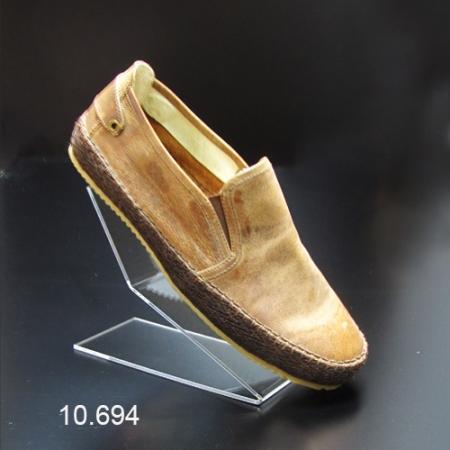 Soporte metacrilato calzado inclinado