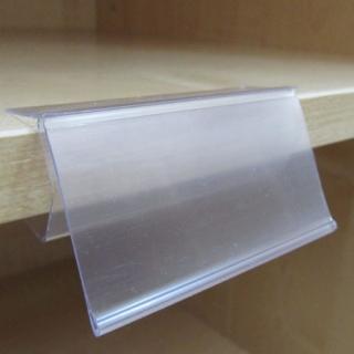 10 Uds. Porta precios 8x4 cm para estante de 19 mm de madera
