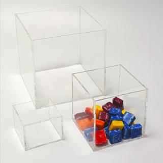 Caja transparente  20x20x15 cm