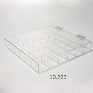 caja separadores con tapa, metacrilato