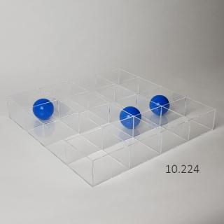 Caja sin tapa 16 huecos 10x10x7 cm, 45x45x7 cm