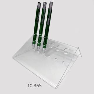Soporte 6 bolígrafos  en pie, triangular