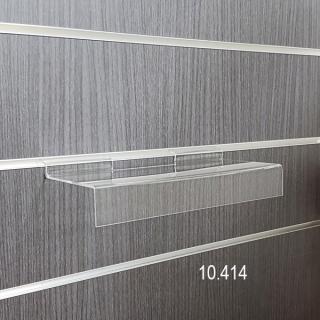 Estante con visera, para lama de 28x11,5 cm, metacrilato