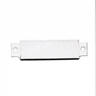 Porta cartel mini atornillar, 45 x 15 mm, metacrilato