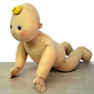 Bebé a gatas, 55 cm, flexible Serie ABC