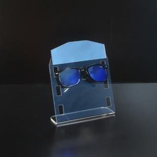 Expositor 3 gafas con espejo, metacrilato