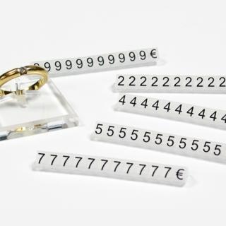Marcadores de precios 5 mm, fondo glaseado- nº negro estuche