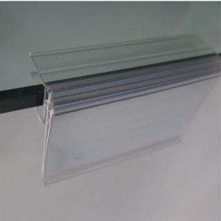 10 unid. Porta precios 6,5x3 cm para estante de cristal.