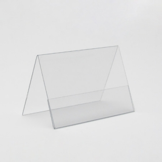 Caballete cartel 1 cara,PVC 75x52 mm, 10 unidades