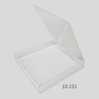 Caja con tapa superior bisagra 30x30x4,5 cm