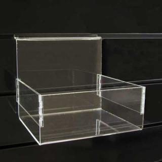 Caja abierta a lama de 20x15x16 cm, metacrilato