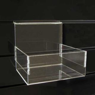 Caja abierta a lama de 18x15x16 cm, metacrilato