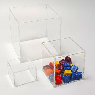 Caja transparente 10x10x10 cm