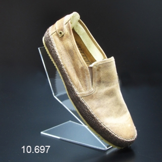 Soporte metacrilato calzado en alto