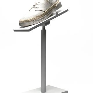 expositor calzado lacado blanco