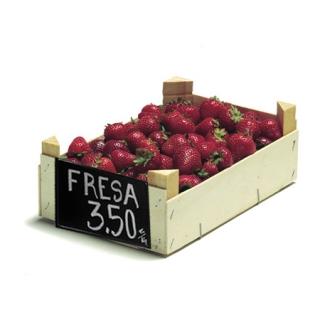 Cartel pizarra plástica para fruta. Colgar. 10 UNID.