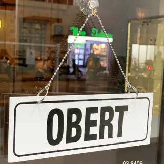 Obert/Tancat cartel puerta Catalán, Forex grande