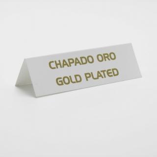 """Cartel joyería """"chapado oro"""" blanco-oro 6 unid."""