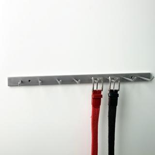 Cinturonero 8 ganchos a pared 50 cm, blanco
