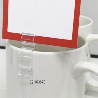 Clip pinza para etiquetas, 20 unidades