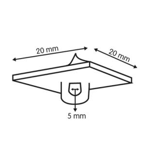 soporte adhesivo para techo, medidas