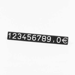 Bolsa 20 unidades números suletos marcadores de precios de 9,5 mm, fondo negro, número blanco