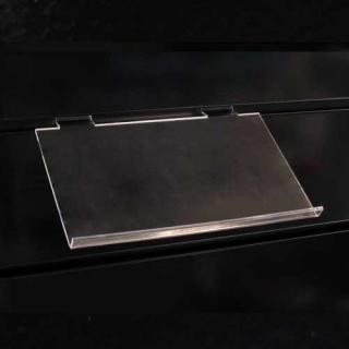 Estante inclinado a lama de 20x12 cm, metacrilato