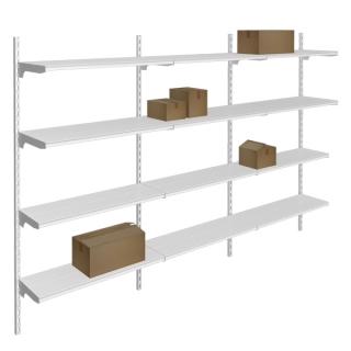 estantería para almacenamiento con cremallera directa a pared