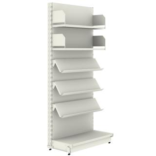 estantería metálica para revista y libros