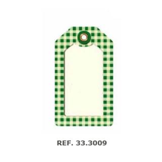Etiqueta colgar cuadros verdes, 200 unid.