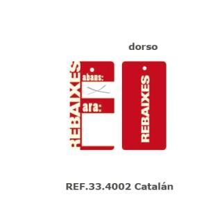 Etiqueta rebaixes pequeña Catalán