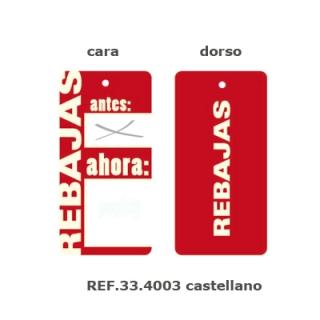 Etiqueta rebajas grande, 200 unid. Castellano