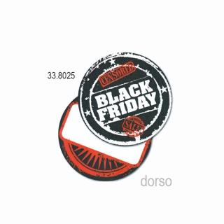 "Etiqueta ""Black Friday"" redonda, 100 unidades"