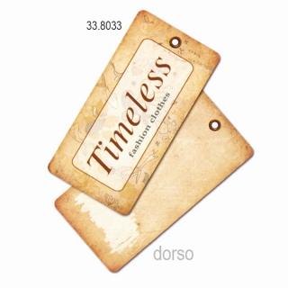"Etiqueta rectangular decorada""Timeless"" ,  200 unidades."