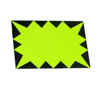 Etiqueta grande amarilla cartón desechable fluor 50 Uds.