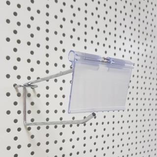 Porta etiqueta para gancho 65x40 mm,Transparente UNIDAD
