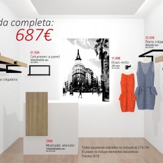Tienda confección completa 687€+IVA